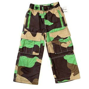 Mini Boden Boys Camouflage Cargo Pants Lined